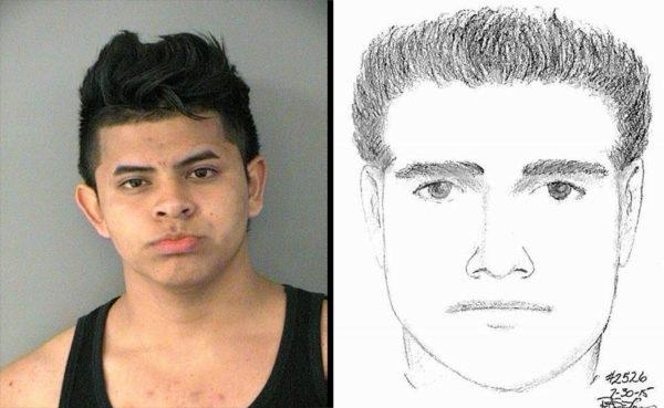 ACPD arrest of sexual assault suspect (mug shot vs. sketch)