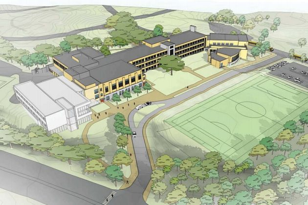 The Stratford Middle School design as approved by the School Board last year