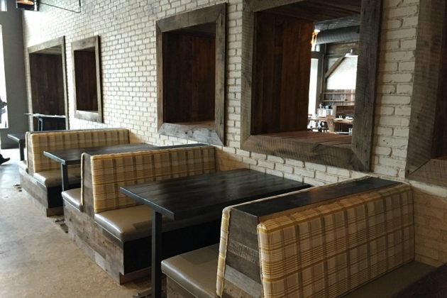 Bar booths, including some ADA-friendly