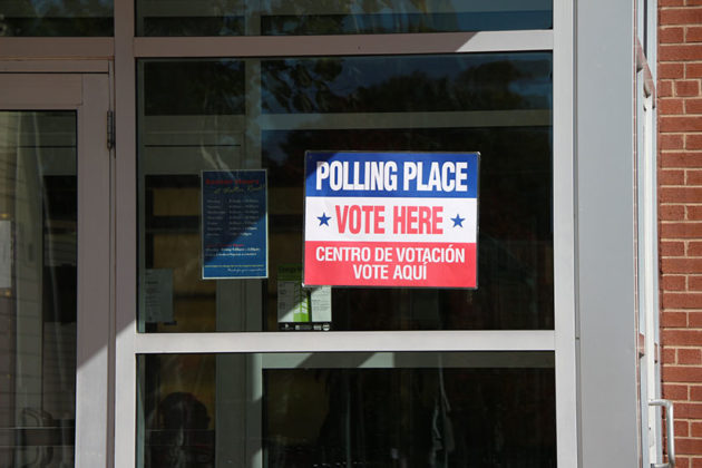 Polling place on Nov. 3, 2015