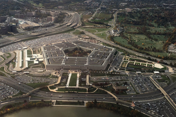 Aerial view of the Pentagon (Flickr pool photo by Michael Coffman)