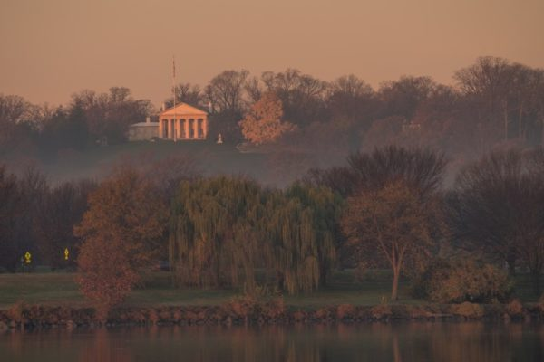 Arlington House at dawn (Flickr pool photo by Kevin Wolf)