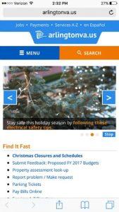 Arlington County Mobile Website
