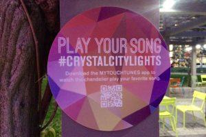 Crystal City Lights signage
