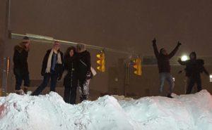 """""""Climbing snowy Mt. Clarendon"""" (photo courtesy James Mahony)"""