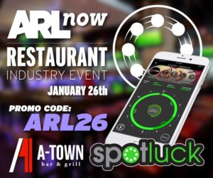 ARLnow Restaurant event / Spotluck banner and promo code