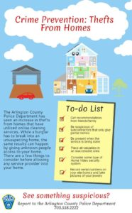 Crime Prevention - Thefts from Home (image via ACPD)