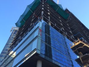 Construction on Central Place tower in Rosslyn