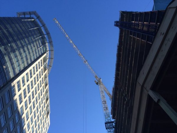 Crane from JBG's Central Place development in Rosslyn