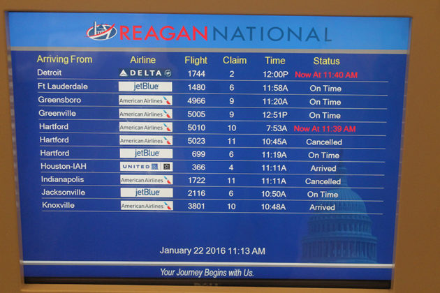 Several flights have already been cancelled, with more expected to be on the way