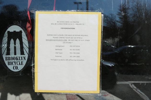 The store will be closed until Jan. 31, reads a sign on the door