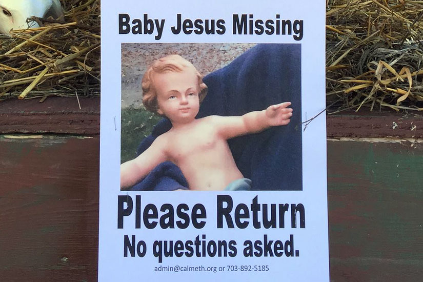 Image result for baby jesus stolen
