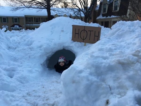 """Hoth"" snow fort near Ballston (photo courtesy Susan Schonfeld)"