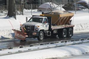 Snow plow on Jan. 24, 2016