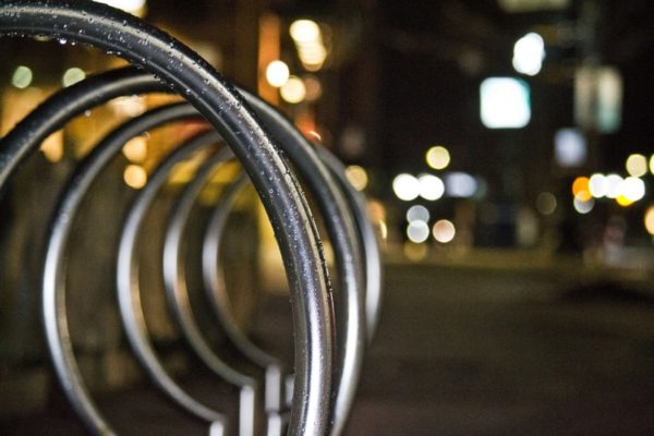 Penrose Square bicycle racks (Flickr pool photo by Bekah Richards)