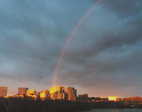 Rainbow over Rosslyn (Flickr pool photo by