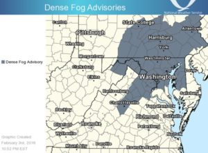 National Weather Service fog advisory