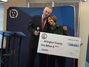 Gov. Terry McAuliffe and County Board Chair Libby Garvey (photo courtesy Arlington County)