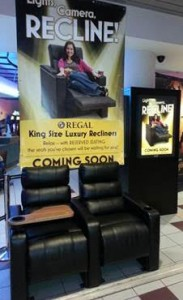 New seats at Ballston's Regal Cinema (Image courtesy Regal Entertainment Group)