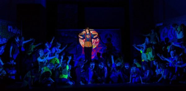Dress rehearsal for the St. Peter's Players production of Godspell (Flickr pool photo by Eric)