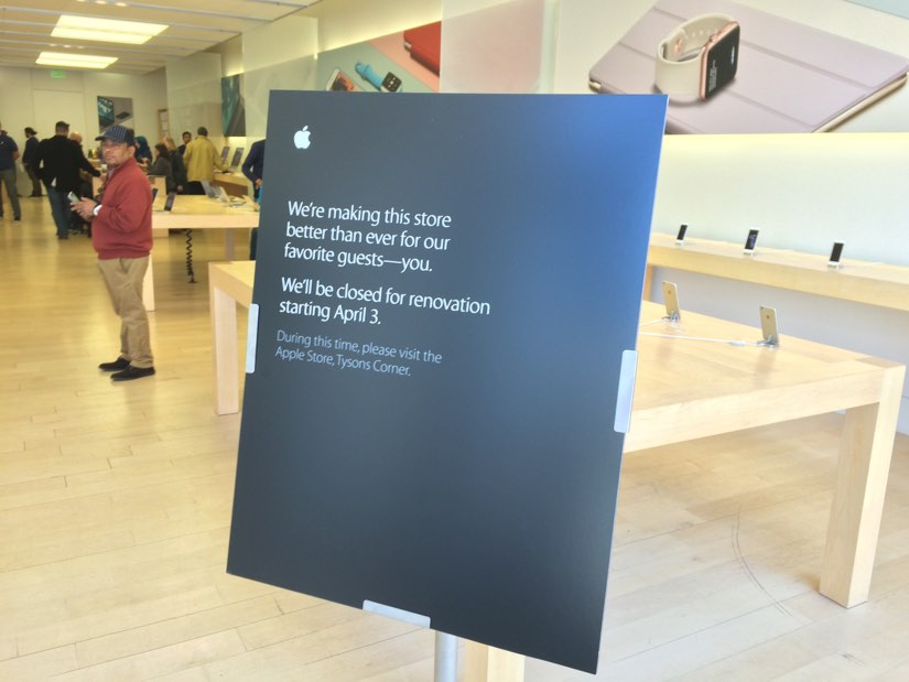 Clarendon Apple Store Closing for Renovations | ARLnow com