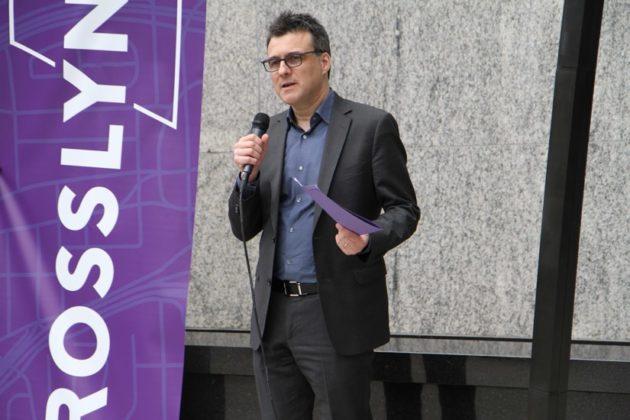 Industrial designer Ignacio Ciocchini at Rosslyn streetscape announcement