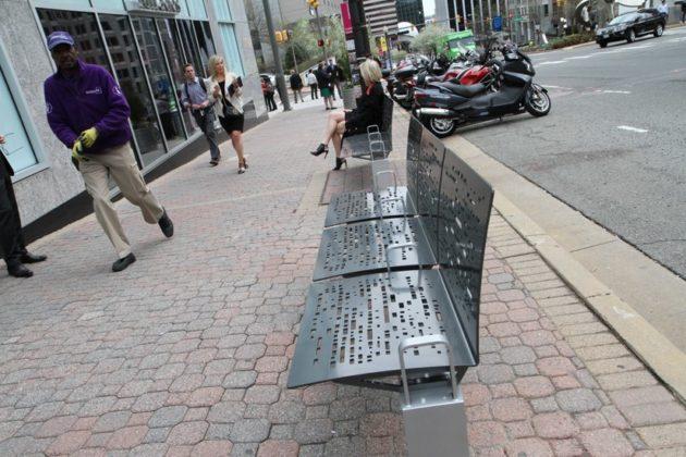 New Rosslyn bench