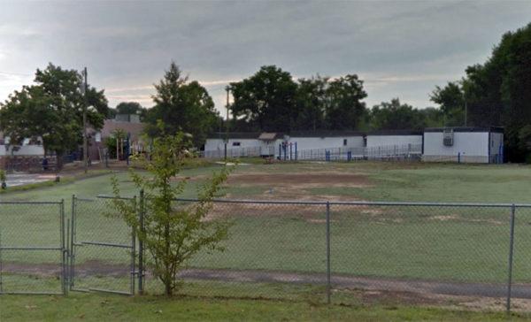 Relocatable classroom trailers are Arlington Science Focus School (photo via Google Maps)