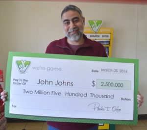 John Johns (photo courtesy Virginia Lottery)