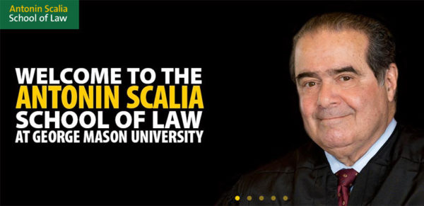 GMU Antonin Scalia School of Law announcement
