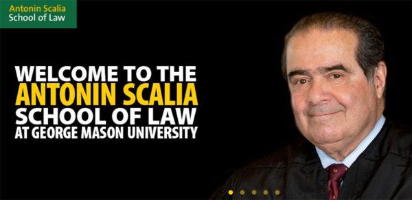 GMU Antonin Scalia School of Law announcement