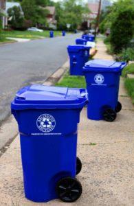 Recycling bins in Arlington (Flickr pool photo by Aaron Webb)