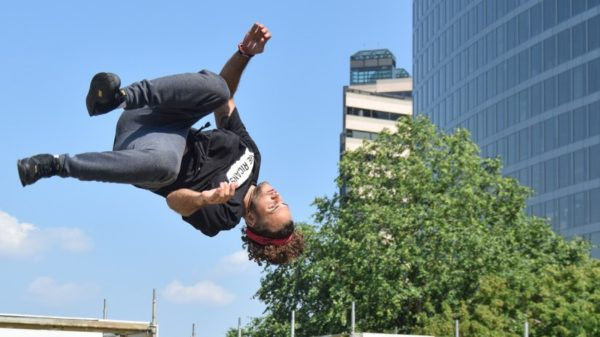 Beast Coast 2016 parkour performance in Rosslyn (Flickr pool photo by John Sonderman)