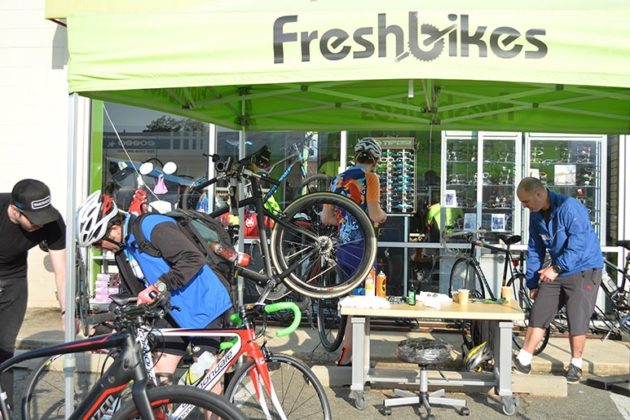 Fresh Bikes tent at the Ballston pit stop last year