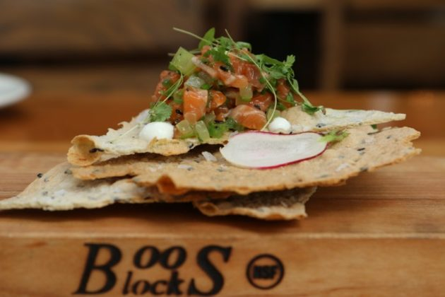 Mussel Bar's Spicy Salmon Belly Tartare