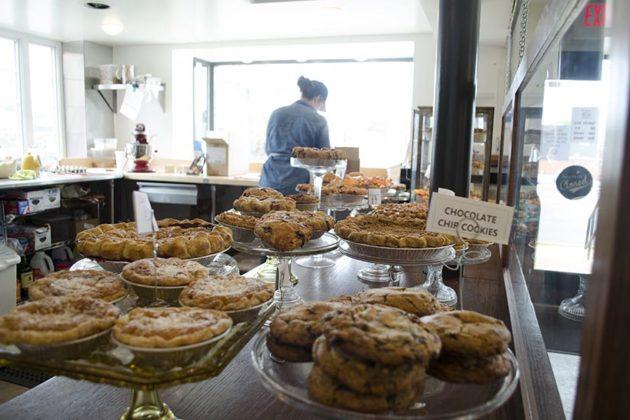 Various pies and cookies
