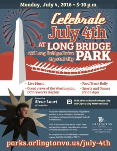 Long Bridge Park Independence Day flyer 2016