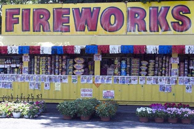 Firework stand along Lee Highway