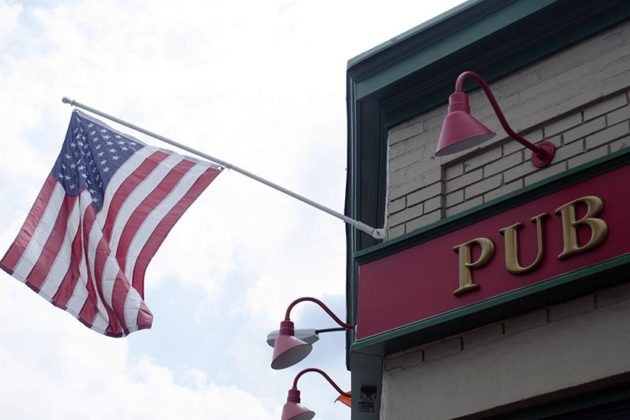 Flag outside of O'Sullivan's Pub