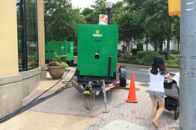 Generators at Market Common Clarendon