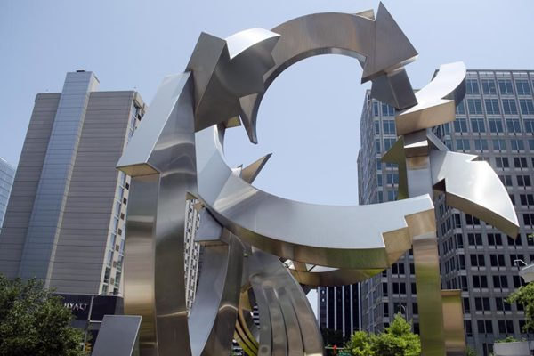 Cupid's Garden Sculpture in Rosslyn