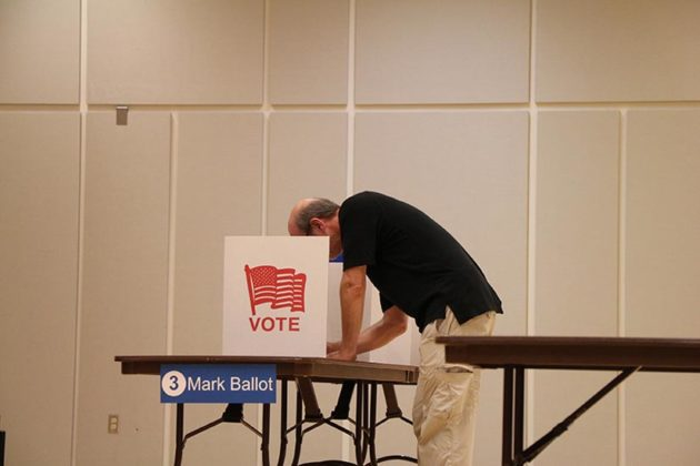 Another man casting his vote