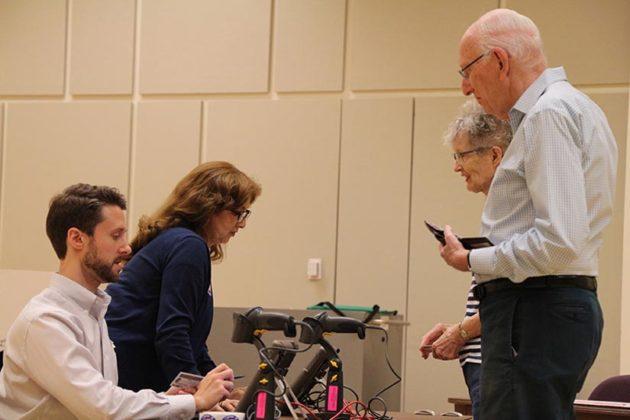 Voters preparing to vote