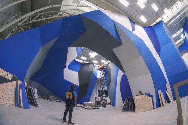 Crystal City gym under construction (photo courtesy of Earth Treks)