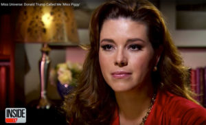 Screen shot of former Miss Universe Alicia Machado