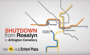 Metro shutdown graphic