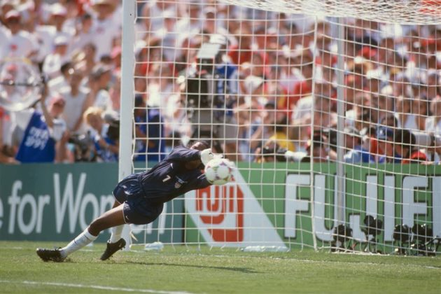 USA vs China, Women's World Cup 1999 (photo by John Todd)
