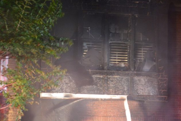 House fire in Donaldson Run (photo courtesy Andrew Pang)