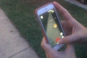 Playing Pokemon Go in Arlington