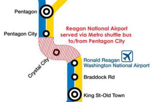 Metro SafeTrack Surge 4 service changes (Image via Metropolitan Washington Airports Authority)